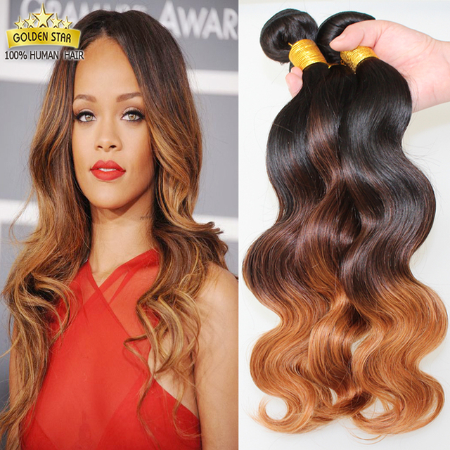 Mongolian Body Wave Ombre Grade 7a Unprocessed Virgin Short Weave