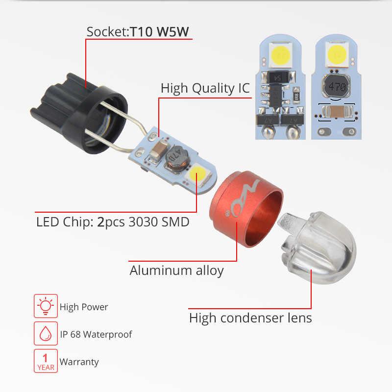 NAO T10 W5W Led-lampe 3030 SMD 168 194 Auto Zubehör Freiheit Lichter Lesen lampe Auto 12V Weiß Bernstein kristall Blau Rot Motor