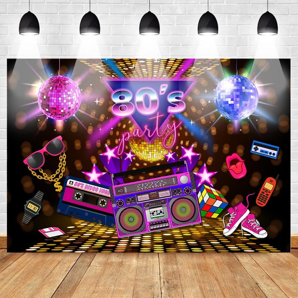 80s вечерние фон диско стиль ретро Стиль фон для фотосъемки с 80-х годов, день рождения фон знак 1980 году неоновые восьмидесятых Фотокабины рекв...