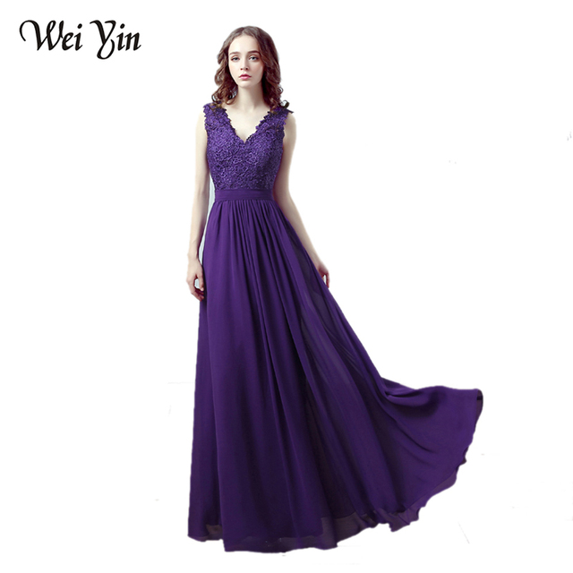 Evening Dress Wine Red Purple Gray Long Sexy Double V-neck Chiffon Vestidos Women Lace-up Party Events Special Occasion Dress