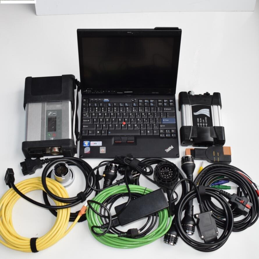 Mb star c5 pour bmw icom prochain diagnostic 2in1 avec logiciel hdd 1 to dans un x200t ordinateur portable ram 4g écran tactile de haute qualité