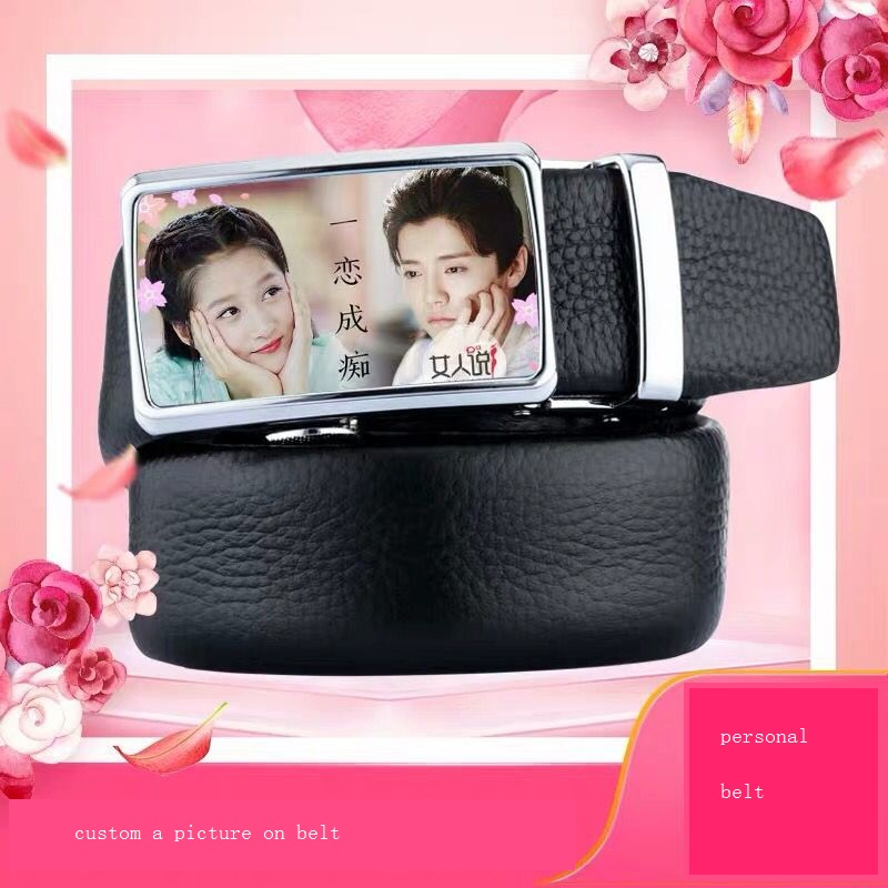 1 pc personnalisé couleur photo logo sur ceinture en cuir cadeaux d'anniversaire pour homme garçon ami mariage anniversaire ceinture cadeau personnalisé