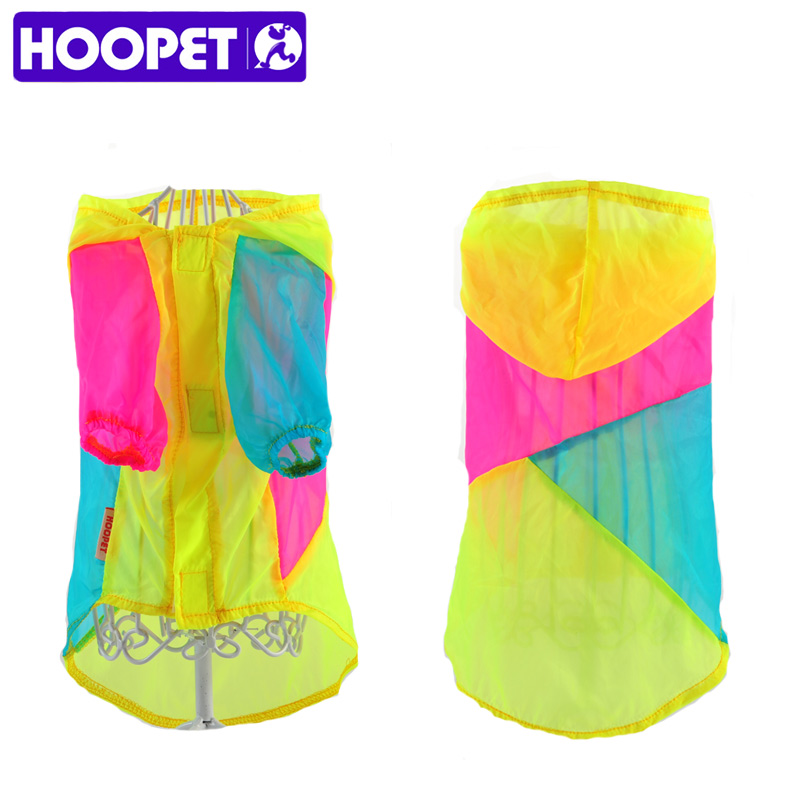 HOOPET Cute NEW Puppy Pet Small Dog Summer Sweet Color Stitching Colorful Sunscreen Clothes Air-condition Apparel Hoodied Coat