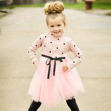 d798a1856c6c0 Nouveau-né Infantile À Manches Longues Fille Robe Enfant Party Girl Tutu  Robe Princesse De Noël Costume Enfants enfants Vêtement.