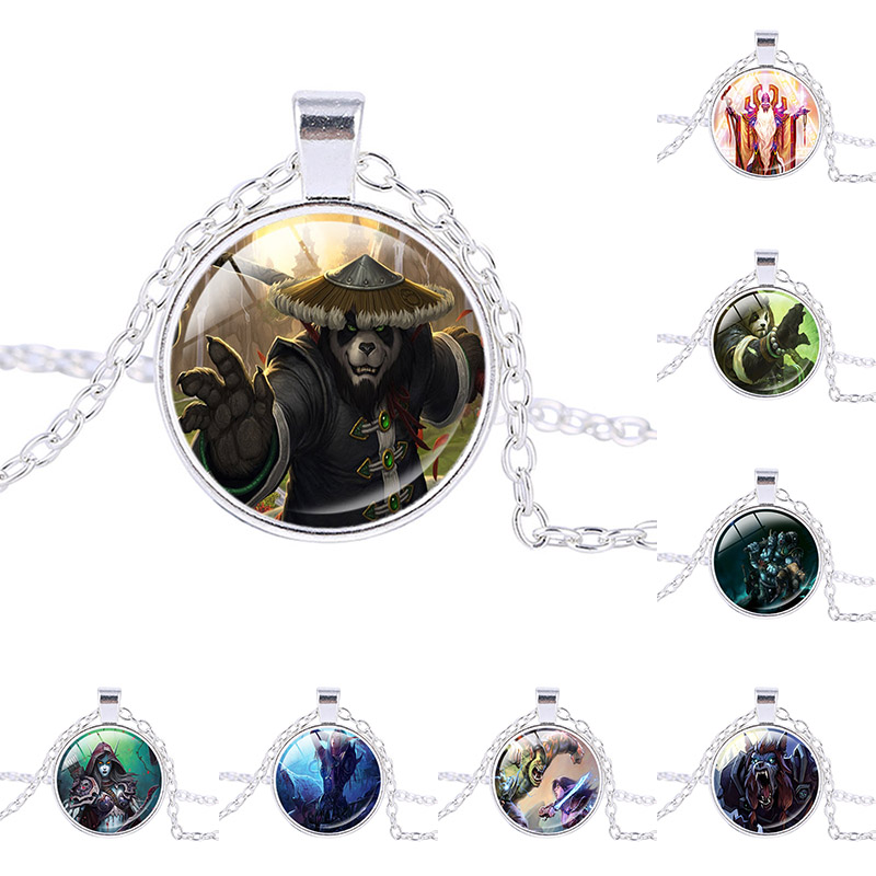 WOW Alliance Video Game Necklace World of Warcraft:Mists of Pandaria Pendant MMORPG Emblem Gift Games jewelry kids birthday gift image