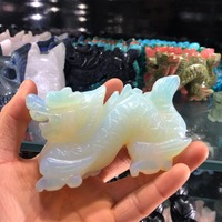 1pcs Natural opal hand carved crystal healing reiki home decoration stone crystal craft