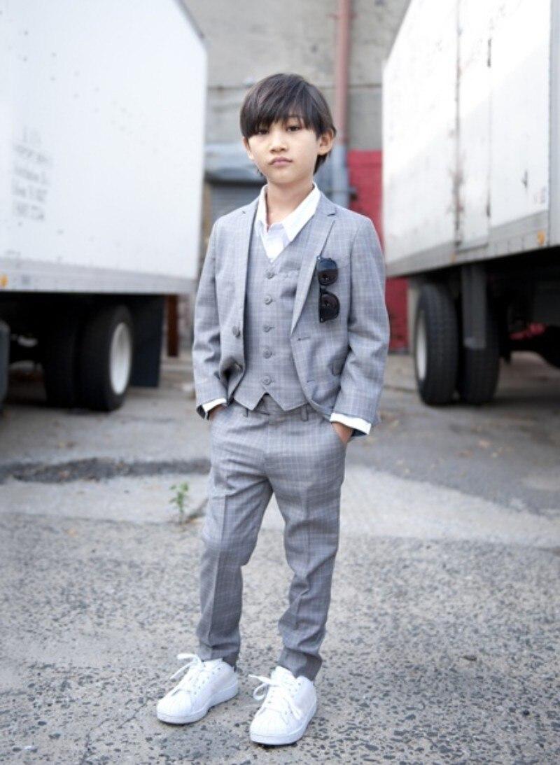 heißer verkauf grau jungen leinenanzug für hochzeit kinder smoking anzug  jungen hochzeitsanzug jungen formale kleidung