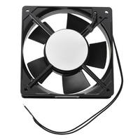 PROMOTIE! Nieuwe 278g Black Metal Industriële 120x120x25mm 0.1A AC 220 240 V Koelventilator