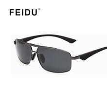 FEIDU Mens Aluminum Magnesium Alloy Frame Polarized Sunglasse Brand Design Sun glasses Vintage Gafas Oculos De Sol With Box