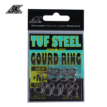 JK 3Packs 400-600Lbs 8 Shape Stainless Steel Ring Fishing Double Solid Swivel For Trolling Connector Jigs Hook Saltwater