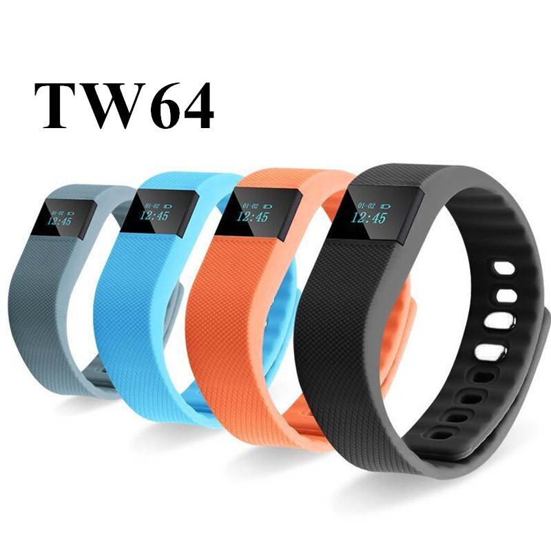 TW64 Smartband Waterproof Wristband Activity Fitness Sleep Tracker Pedometer Bluetooth 4 0 IOS Android