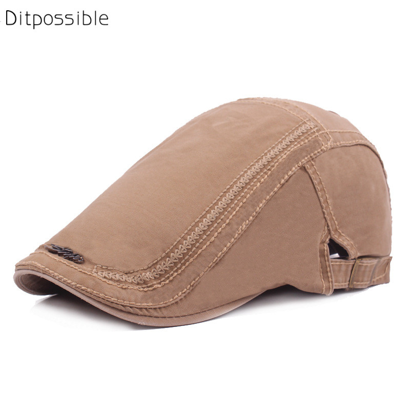 Ditpossible new style cotton beret men hat embroidery flat caps women fashion berets gorras hats for men