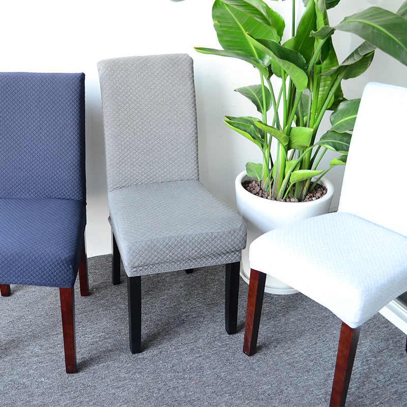 Эластичный трикотажный тканевый чехол для обеденного стула S/M/L Стретч Чехол для сидения моющийся защитный чехол для обеденного стула для гостиничного банкета