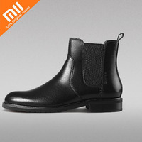 Original xiaomi mijia calf leather classic Chelsea men's boots soft elastic massage sole imported calf leather men's winter boot