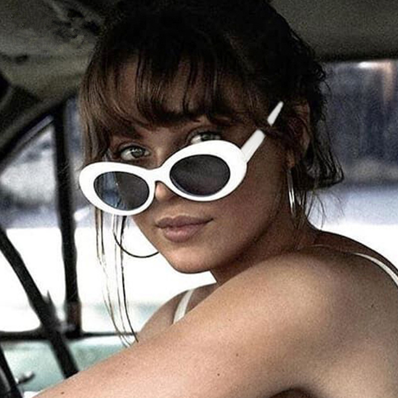 7cb3cda713 Caleidoscopio gafas Clout gafas Oval gafas de sol Kurt Cobain mujer marca  diseñador Eyewears hombres anti-UV NIRVANA gafas de sol
