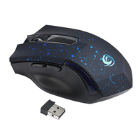 Ajustable DPI Switch 1200 2000DPI 2 4G Wireless Game Mouse USB 6Keys Optical Computer Gaming Mouse