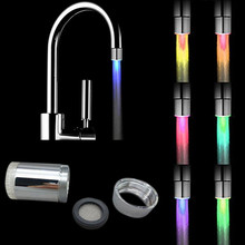 7 Color Change Romantic LED Light Shower Head Water Bath Home Bathroom Glow Shower Head adapter faucet filter tap head(China)