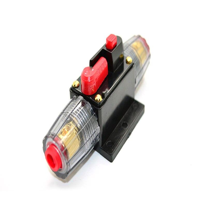 40A voiture Audio énergie solaire en ligne disjoncteur réinitialiser porte-fusible 12V DC