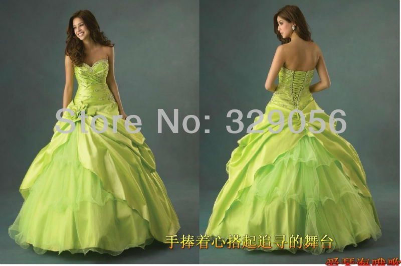 Pleat Sweetheart Ball Gown Custom Made Plus Size
