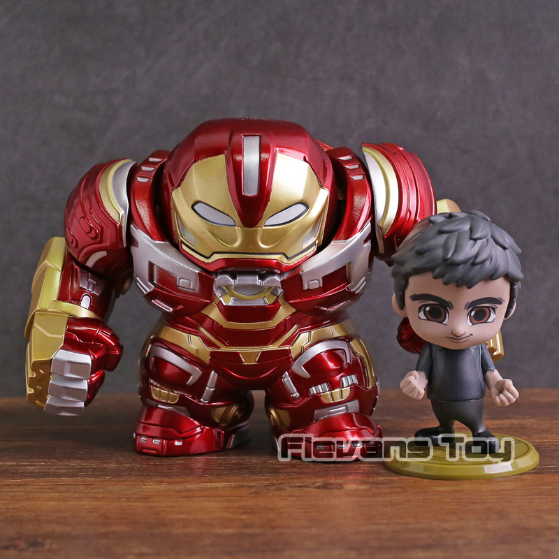 Hot Toys Cosbaby Avengers Infinity War Hulkbuster & Bruce Banner PVC Action Figure Collectible Model Toy Set bruce schneier bruce schneier on trust set