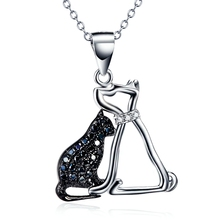 925 sterling silver jewelry Pet dog cat pendant necklace women girls party gift CHX10880