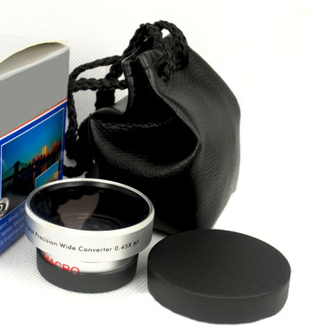 BON CREATION High Quality Wide Angle Conversion Lens 30.5mm 0.45x for Camcorders 30.5 0.45 Silver + Gift lens bag Pakistan