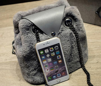 Faux Fur Crossbody Bag | Owl Shape Furly Women Messenger Bags Lady's Winter Fur Bag Handbag Crossbody  For