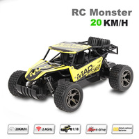 High Speed RC Car 1 18 2 4G 4 Wheel Drive Big Foot Speed Buggy RC