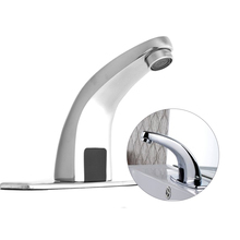 Bathroom Automatic Infrared Sink Hands Touchless Free Faucet Sensor Tap Cold Water Saving Inductive Electric Basin Faucet Mixer touch free water saving automatic infrared sensor faucet bathroom swan faucet automatic sensor basin tap