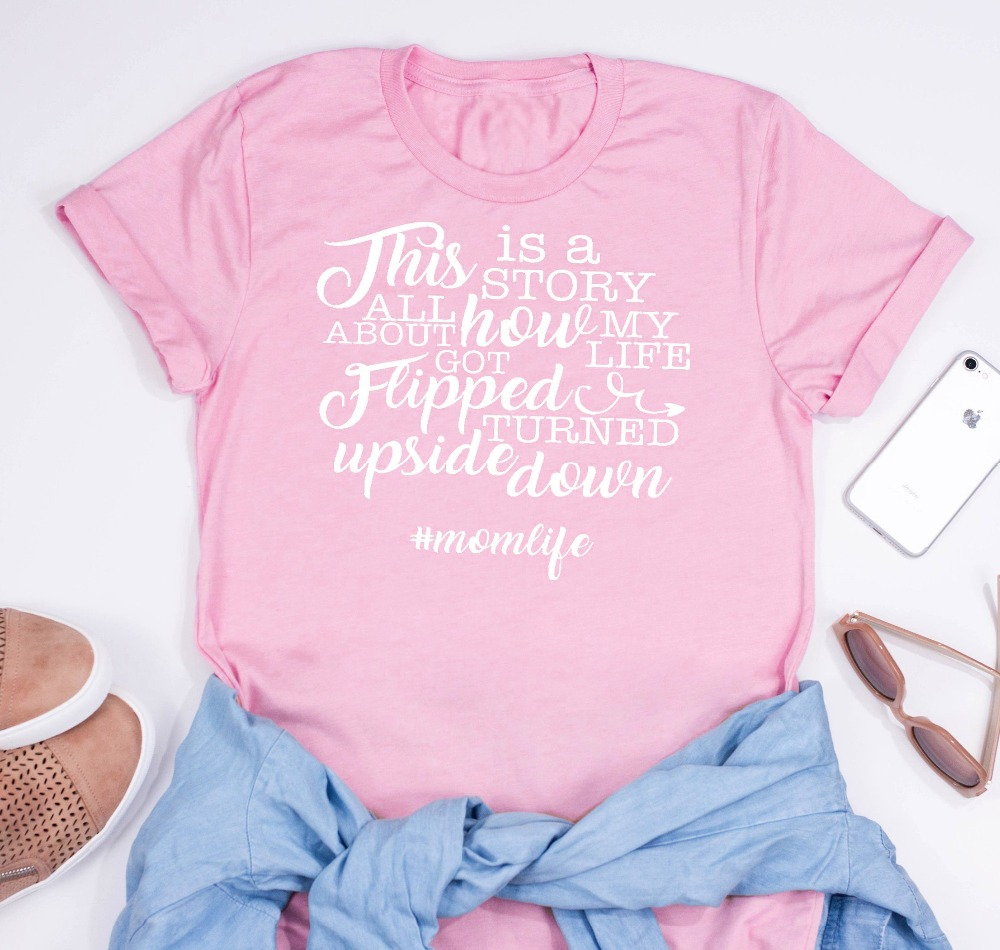 This Is A Story About How My Life Got Flipped Turned Upside Down Fresh Prince #MomLife Mother's Day Mom Shirt Funny Mom t-Shirt image