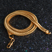 Unisex Gold Colored Smooth Chain