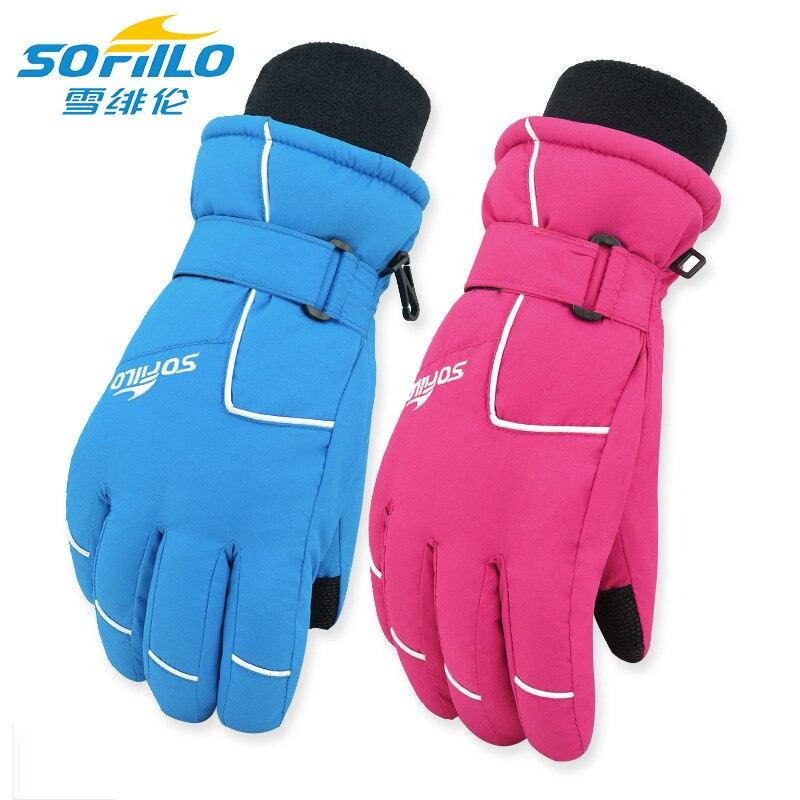 Thermal Winter Gloves Men Women Waterproof Motorcycle nowboard Skiing Gloves Adult Snowmobile Snow Gloves ST32