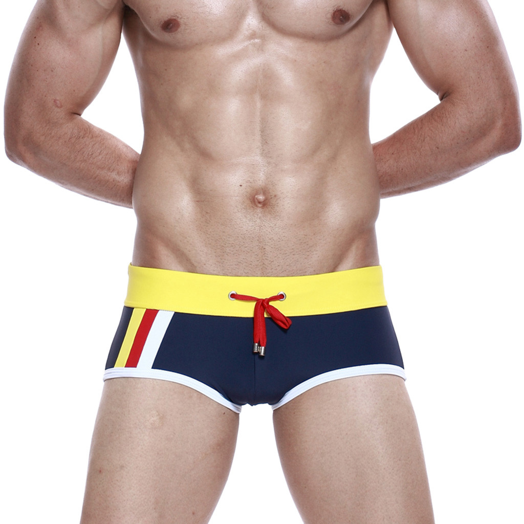 Brand Men Swim Boxer Shorts Board Surfing Trunks Designed Low Waist Swimwear Swimsuits Brazilian Traditional Cut Gay 2019