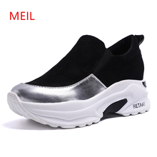 2019 New Arrive Flat Platform Solid Slip-on Women Shoes Fashion Spring Autumn Flats Shoes Comfortable Women Platform Loafers