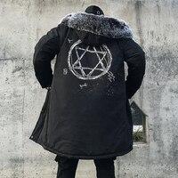 Winter Jacket Men Thick Warm Long Jackets Parkas hombre Mens Fur Hooded Jacket Long Autumn Winter Trench Coat Male