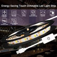 5V USB Led Strip Lamp 1M 2M 3M 4M 5M Waterproof Dimmable Kitchen Bathroom Light Stirp Night Lighting Closet Stair Cabinet