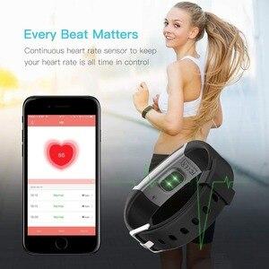 Image 5 - 2020 스마트 워치 GT101 심박수 모니터 블루투스 피트니스 시계 방수 호출 알림 보수계 Smartwatch 남성 여성 스포츠
