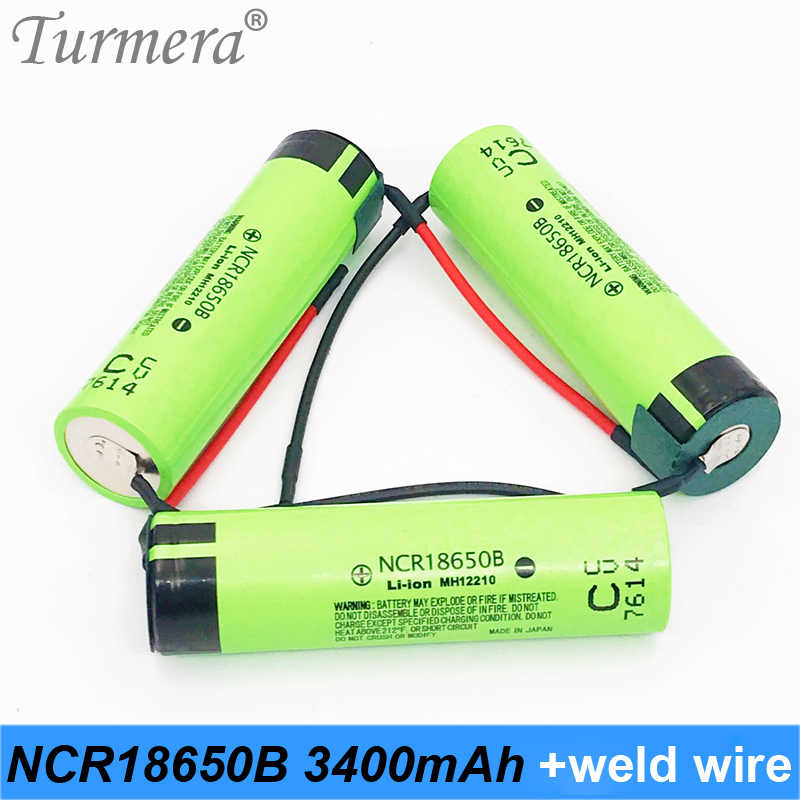 original 18650 3400mah+ diy welding wire 18650 rechargeable battery 3.7v 18650 for shura screwdriver and power bank battery fe1