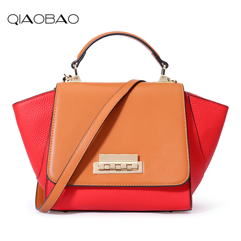 QIAOBAO Trapeze bag women leather handbags luxury brand bags sac a main bag female shoulder ladies luxury women bags design Tote qiaobao trapeze bag women leather handbags luxury brand bags sac a main bag female shoulder ladies luxury women bags design tote