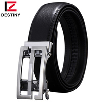DESTINY Genuine Leather Fashion S G Designer Belt Men Luxury Brand High Quality Waist Strap Male