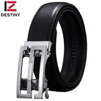 DESTINY Genuine Leather Fashion S G Designer Belt Men Luxury Brand High Quality Waist Strap Male