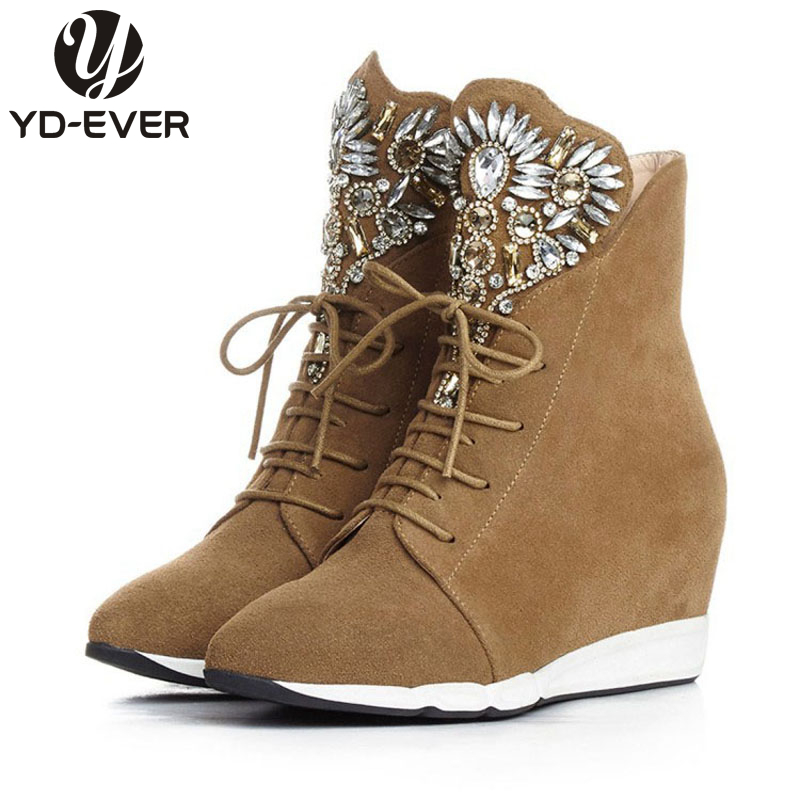 Online Get Cheap Leather Wedge Heel Boots -Aliexpress.com