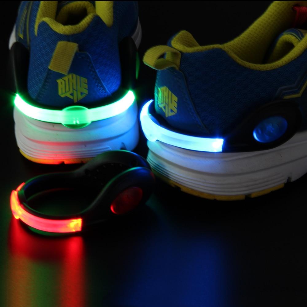 Clip de la luz LED de advertencia flashing Colorful clip de zapato para  correr de noche y la noche montando con batería recargable|clip de  luz|light shoe clipled clip de zapato - AliExpress