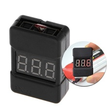 On Sale 1pcs BX100 1-6S Lipo Battery Voltage Tester/Low Buzzer Alarm/Checker Planes Helicop