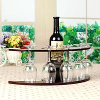 Violin design wood like plastic Wine rack wine cups holders