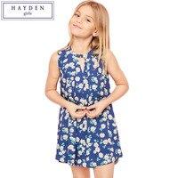 HAYDEN Girls Floral Print Dress Kids Summer Dress Designs 2017 Girls Fashion Trends Sleeveless Dress Girl