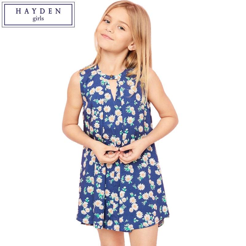 Girls Fashion Styles: HAYDEN Girls Floral Print Dress Kids Summer Dress Designs