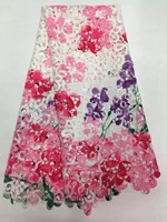 african french lace fabric high quality Purple Color African lace fabric with stones Embroidery tulle lace fabric