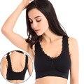 Mujeres de la manera del cordón bras full cup push up Sujetador color Sólido Transpirable Gimnasio Tops Sujetador Ropa Interior Femenina Sin Costuras