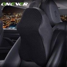 Onever Hỗ Trợ Cổ Gối Xe Gối Bộ Nhớ Bọt Cổ Tựa Đầu Ô Tô Auto Seat Head Bảo Vệ Phần Còn Lại Da Cổ Gối